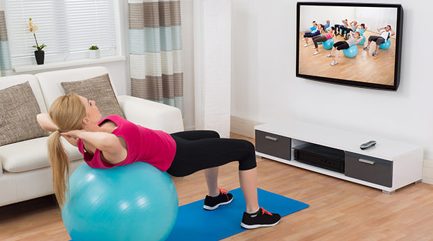 Watch TV while exercising 2