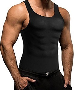 Comery Men Waist Trainer Vest for Weightloss Hot Neoprene Corset Body Shaper Zipper Sauna Tank Top Workout Shirt